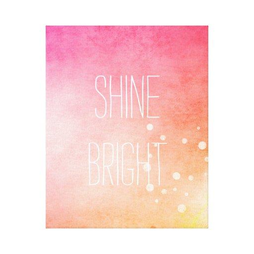 Shine Bright Canvas Prints
