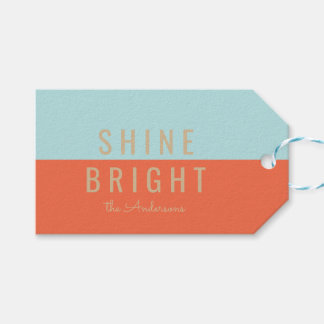 Shine Bright Holiday Gift Tags