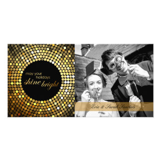 Shine Bright Holiday Personalized Photo Card