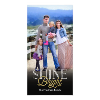 Shine Bright Holiday Photo Picture Card