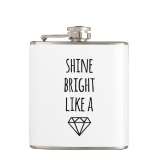 Shine Bright Like a Diamond Hip Flask