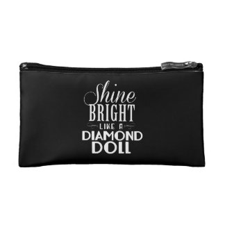 Shine Bright Makeup Bag - Black