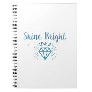 Shine Bright Spiral Notebook