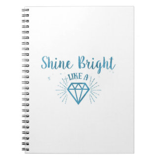 Shine Bright Spiral Notebooks