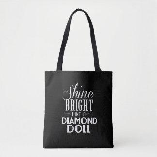 Shine Bright Tote Bag - Black