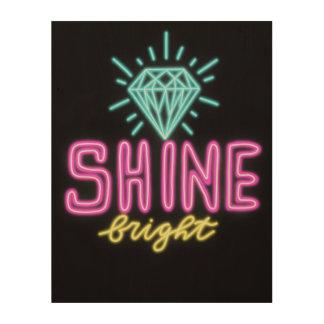 Shine Bright Wood Wall Art