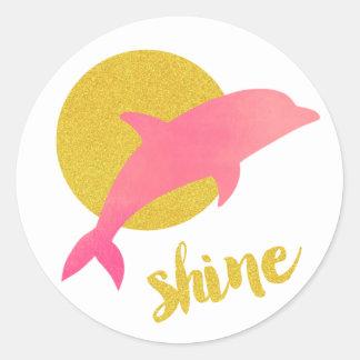 Shine Dolphin Sticker