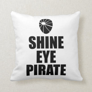 Shine Eye Pirate Eyepatch. Dark Text Cushion