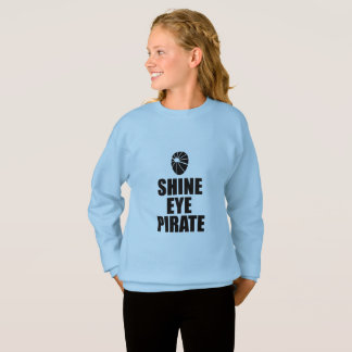 Shine Eye Pirate Eyepatch. Dark Text Sweatshirt