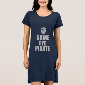 Shine Eye Pirate Eyepatch. Light Text Dress