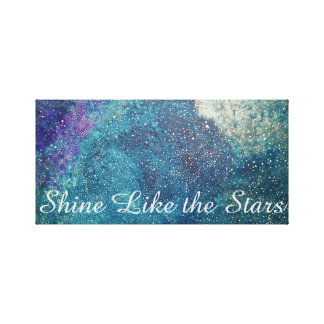 Shine like the stars canvas print