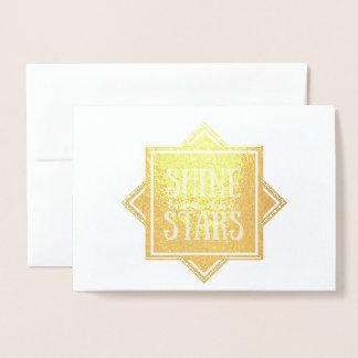 Shine Like The Stars | Gold Foil Blank Card
