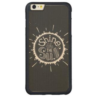 Shine Like The Sun Carved® Maple iPhone 6 Plus Bumper Case