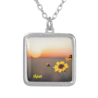 Shine Like the Sun Silver Plated Necklace