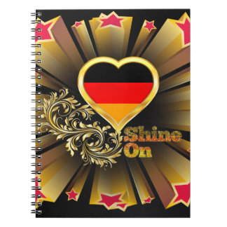 Shine On Germany Spiral Notebook