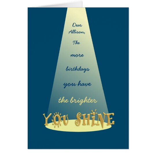 Shine On Happy 30th Birthday Personalised Greeting Card