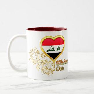 Shine On Iraq Two-Tone Coffee Mug