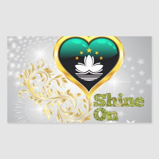 Shine On Macau Rectangular Sticker