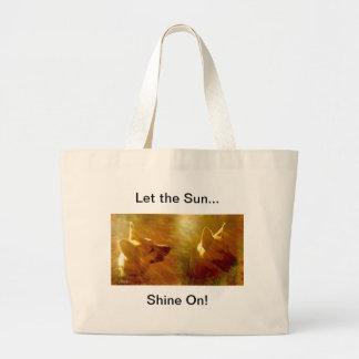 Shine On Me German Shepherd Large Tote Bag