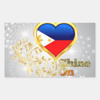 Shine On Philippines Rectangular Stickers
