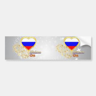Shine On Russia Bumper Sticker