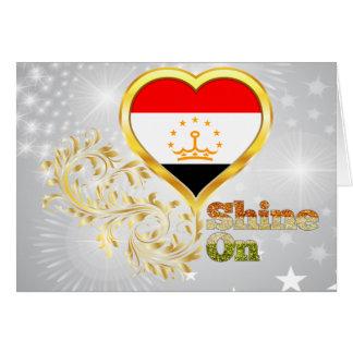 Shine On Tajikistan Greeting Card