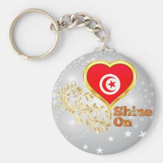 Shine On Tunisia Basic Round Button Key Ring