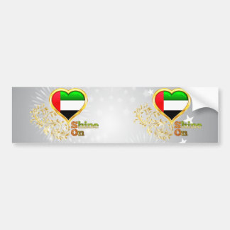 Shine On United Arab Emirates Bumper Stickers