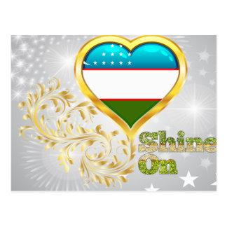 Shine On Uzbekistan Postcard