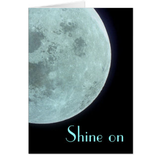 Shine on (white interior) greeting card