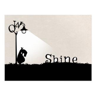 Shine, Qwirks... Shine.  A Postcard. Postcard