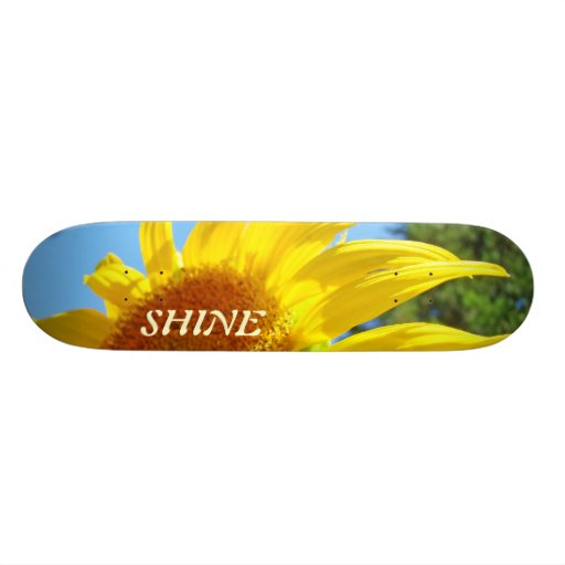 SHINE skateboards custom Yellow Sunflower