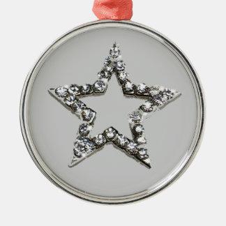Shine star christmas ornament