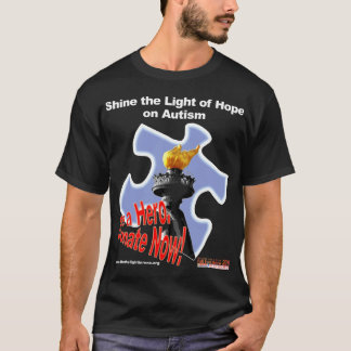 Shine the Light of Hope on Autism in Reno T-Shirt
