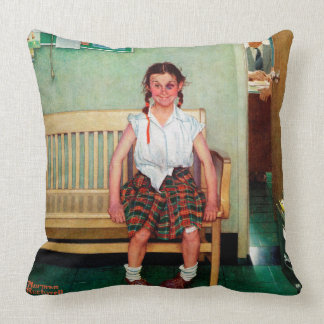 Shiner or Outside the Principal's Office Throw Pillow