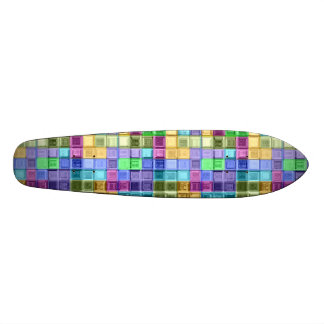 Shiney Colorful Mosaic Art Skate Decks