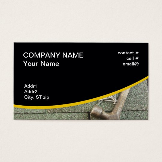 shingle roof business card