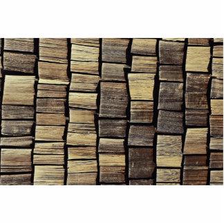 Shingle tiles pattern photo sculpture