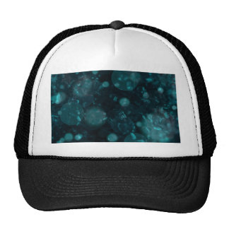 shining and shimmering green mesh hat