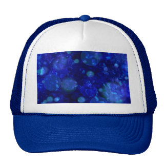 shining and shimmering inky blue mesh hat