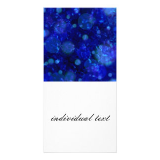 shining and shimmering inky blue picture card