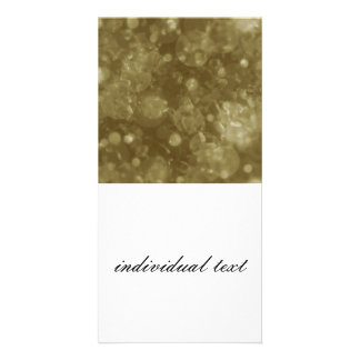 shining and shimmering moss customized photo card
