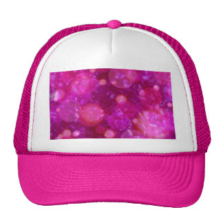 shining and shimmering pink mesh hats