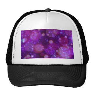 shining and shimmering purple mesh hat