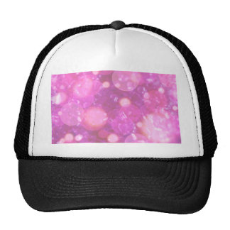 shining and shimmering soft pink hats