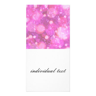 shining and shimmering soft pink photo cards