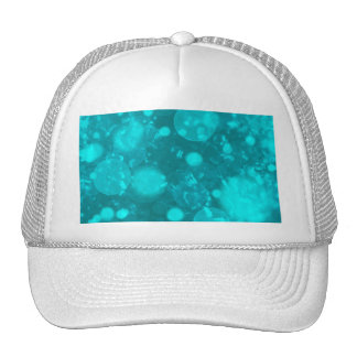 shining and shimmering turquoise mesh hat