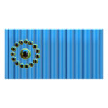 Shining Blue Curtain Rods n Dragons Eye Camera Personalized Photo Card