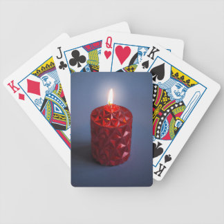 Shining candle bicycle playing cards