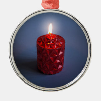 Shining candle christmas ornament